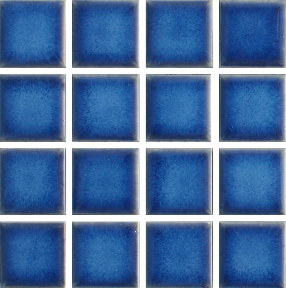 Waxman m 444 baltic blue ceramic pool tiles 10 sheet for Swimming pool ceramic tile