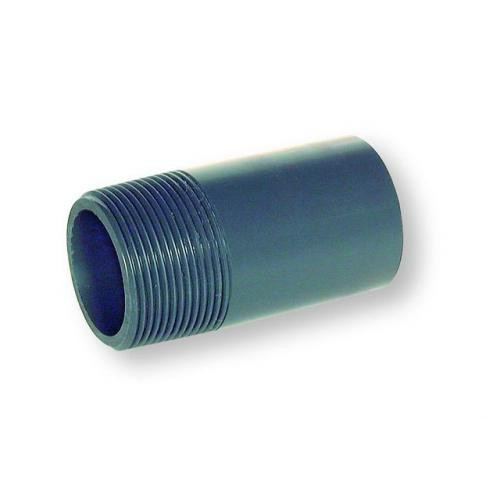 "0.75"" Grey PVC Barrel Nipple"