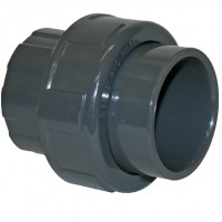 "0.75"" Grey PVC Socket Union"