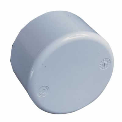 1 5 White Abs End Cap Plain Swimming Pool Supplies