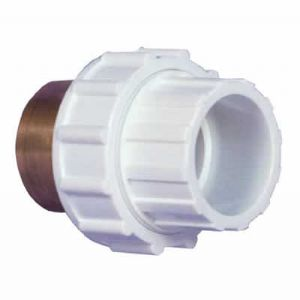 "2"" White ABS Composite Union Female Threaded/Female Plain (FT/FP)"