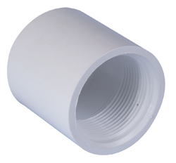 "2"" White ABS Plain to Threaded Socket (P-T)"