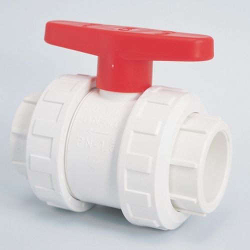 2 Quot White Abs Double Union Ball Valve Swimming Pool Supplies