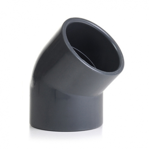 50mm Grey PVC 45 Degree Elbow