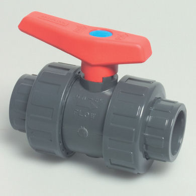 50mm Grey PVC - Double Union Ball Valve