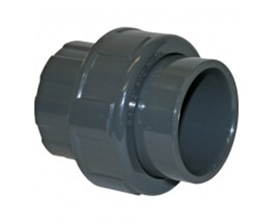 50mm Grey PVC Plain Socket Union
