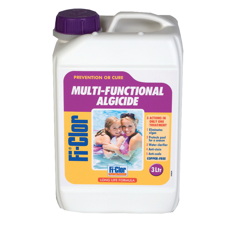Fi-Clor Multi-Functional Algaecide 3 litres (Copper Free) - Pool Supplies