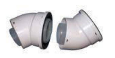 Genie Flue - 45 Degree Bends (pair)