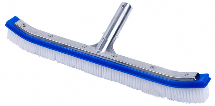 Pool Wall Brush With Aluminium Back 18