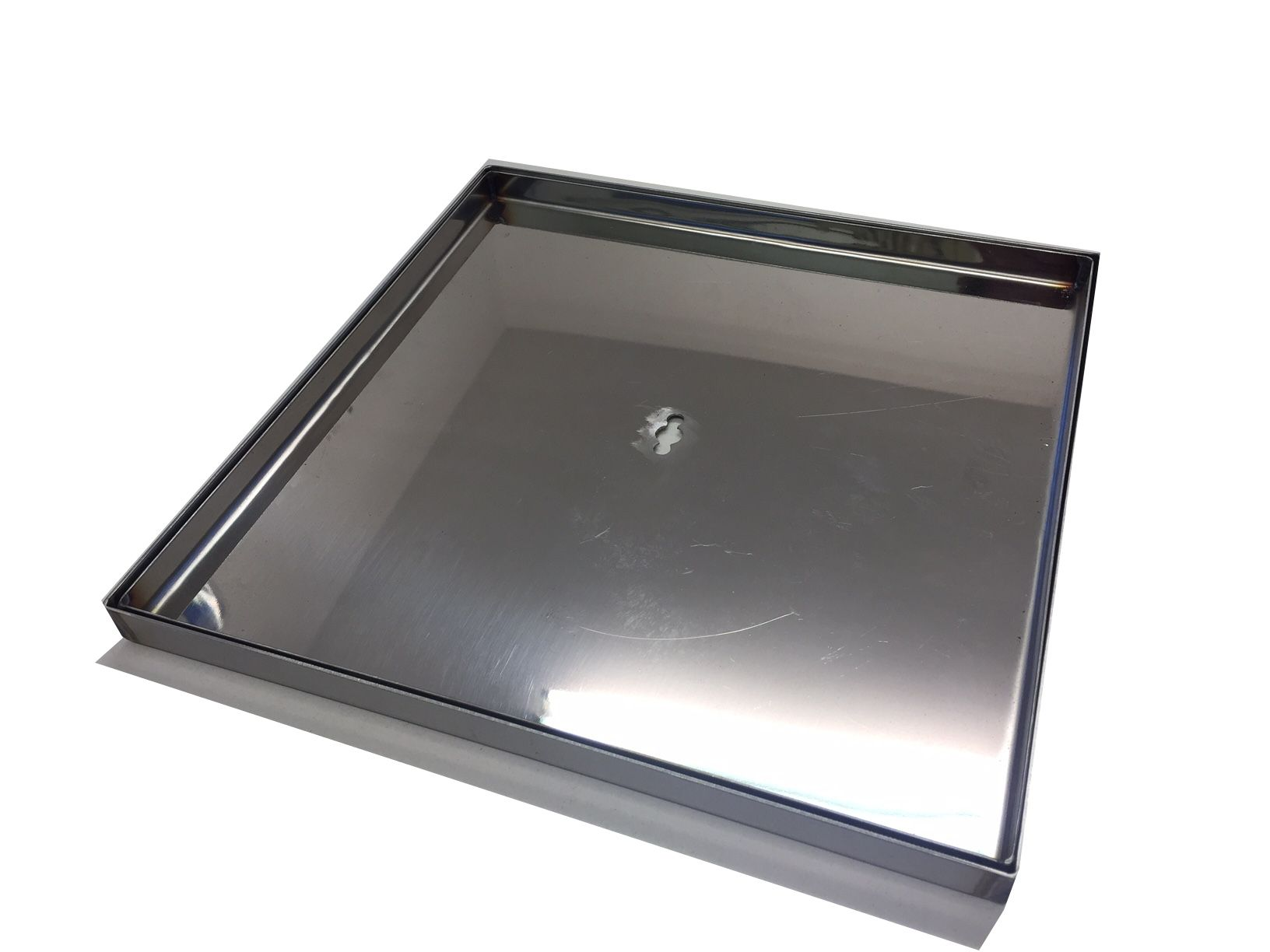 Stainless steel lid tray for skimmers 300x300mm for Pool 300 x 120
